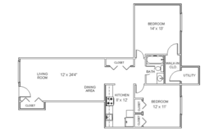 Hollandale Apartments floorplan